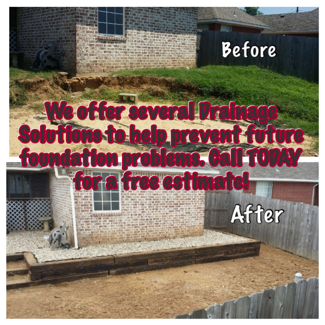 Drainage solutions power jack foundation repair for Drainage around house